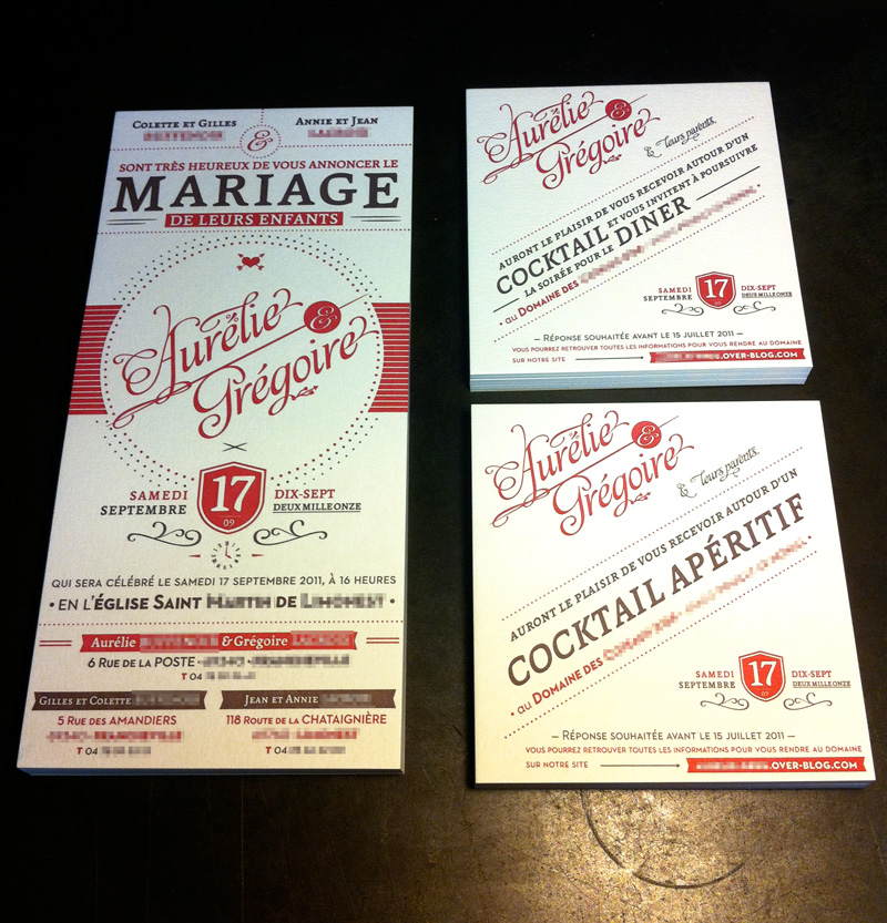 Exceptionnel Faire part mariage letterpress - studio d'impression l'etterpress  QK89