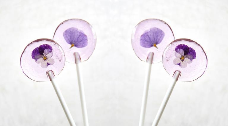 Les sucettes aux fleurs