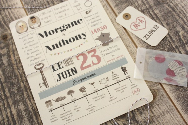 Fabuleux Save the date : Morgane & Anthony | Blog mariage, Mariage original  TI49