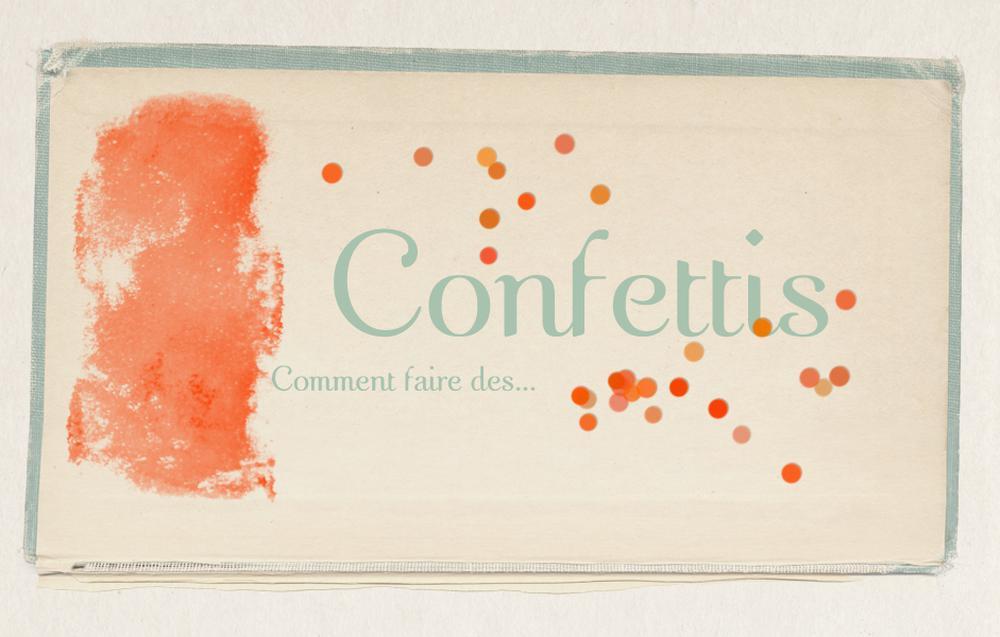 DIY- Des confettis avec Photoshop