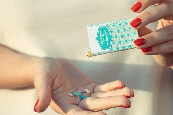 Des boites à confettis pour votre mariage