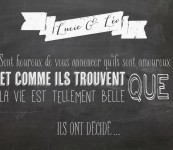 Un faire part « chalkboard »