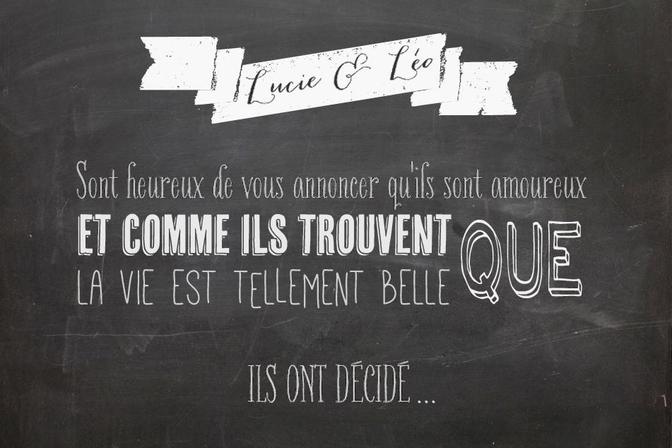 "Favori DIY – Un faire part ""chalkboard"" | Blog mariage, Mariage original  DQ95"