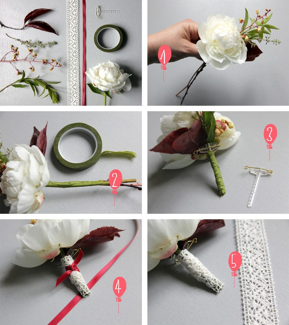 diy une boutonni re son veston blog mariage mariage original pacs d co. Black Bedroom Furniture Sets. Home Design Ideas