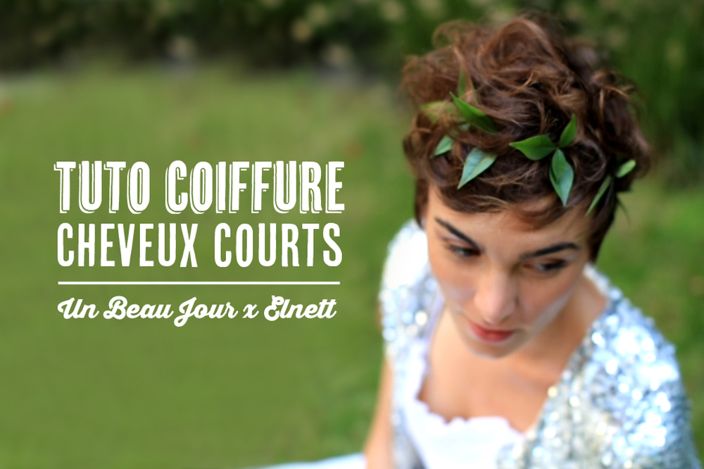 tuto coiffure pour cheveux courts blog mariage mariage. Black Bedroom Furniture Sets. Home Design Ideas