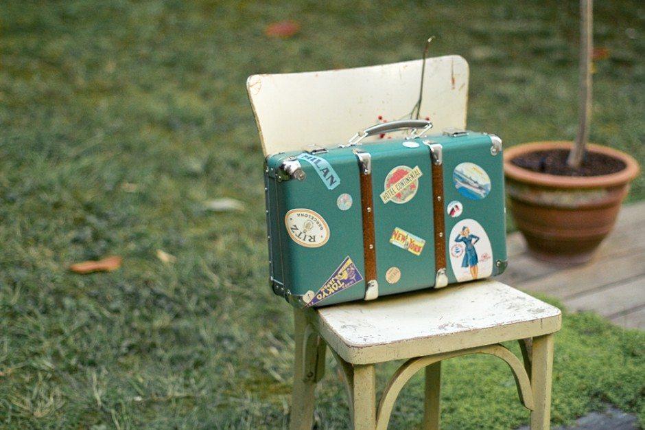 Ma valise en carton blog mariage mariage original pacs d co - Valise en carton ancienne ...