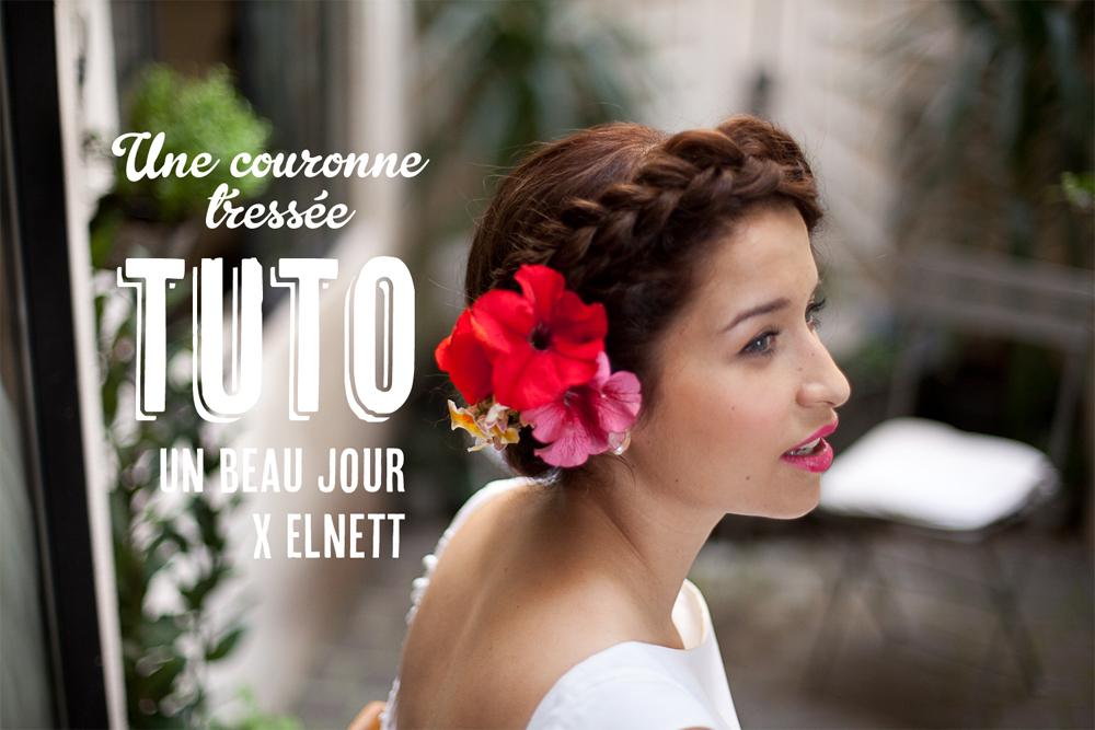Tuto coiffure une couronne tress e blog mariage mariage original pacs d co - Coiffure couronne tressee ...