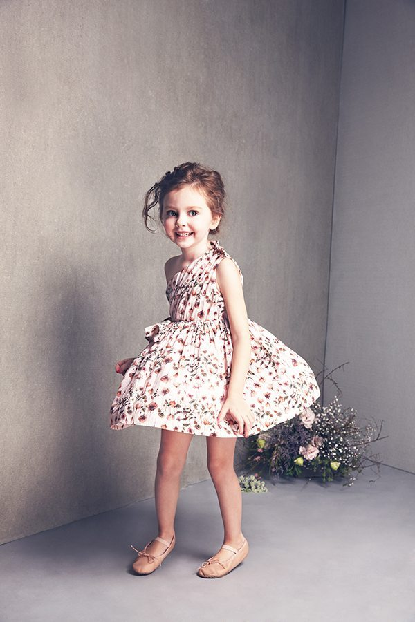 olivia dress in Strawberry Field