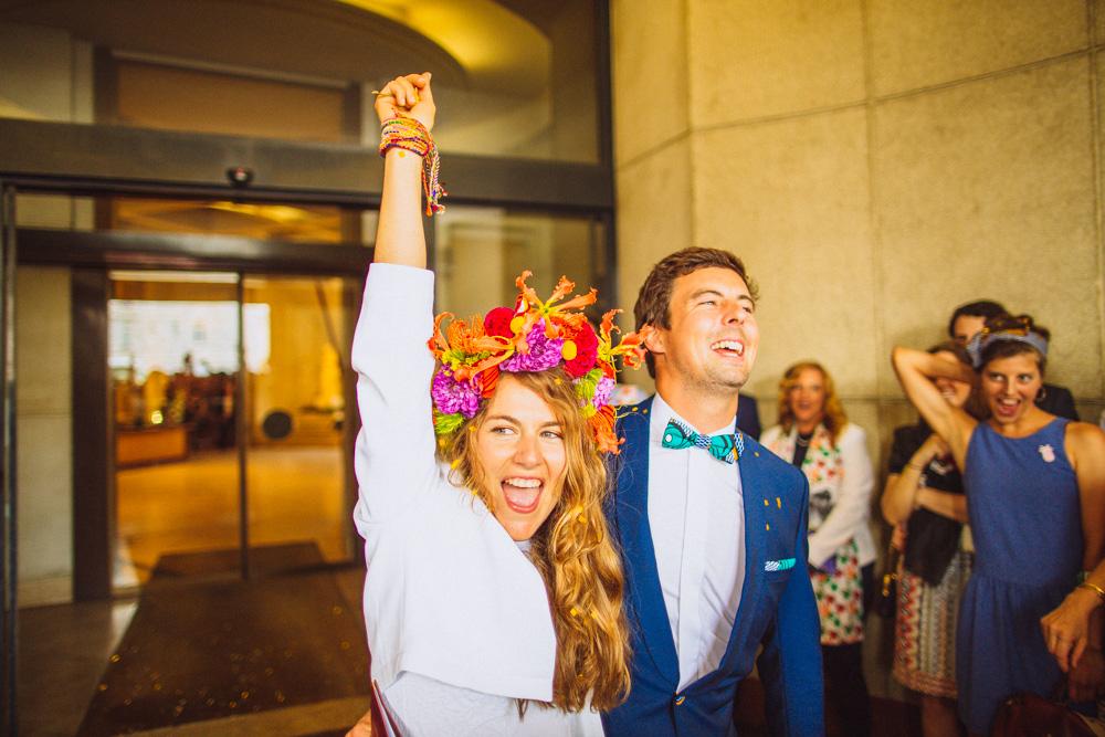 Alizée & Fred : un mariage coloré à Biarritz