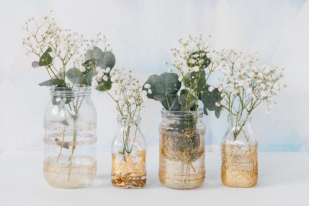 Shiny vases