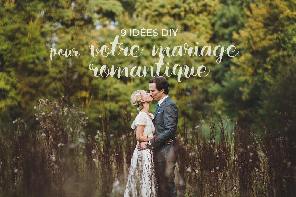9 idées pour un mariage romantique