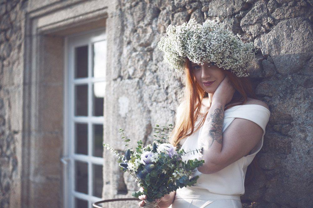Une chapka de fleurs