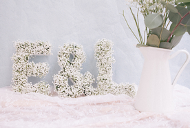 Message fleuri