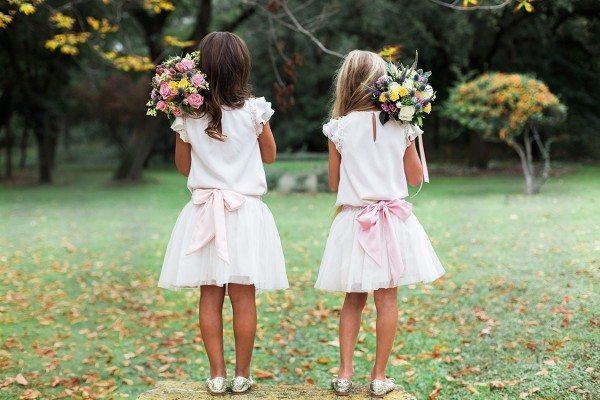 Top Mia et Jupe Chloe, ceinture rose dragee6