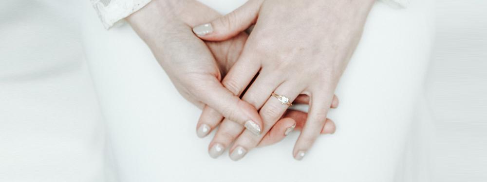 Les jolies mains de la mariée