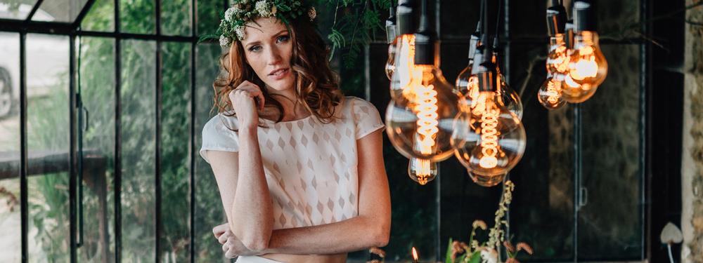 (Français) Une décoration de mariage champêtre et cuivrée
