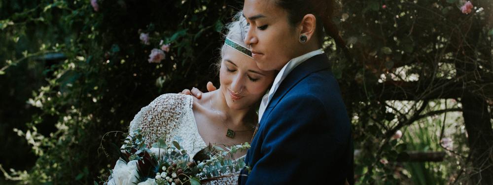 Une décoration de mariage bleue et bohème