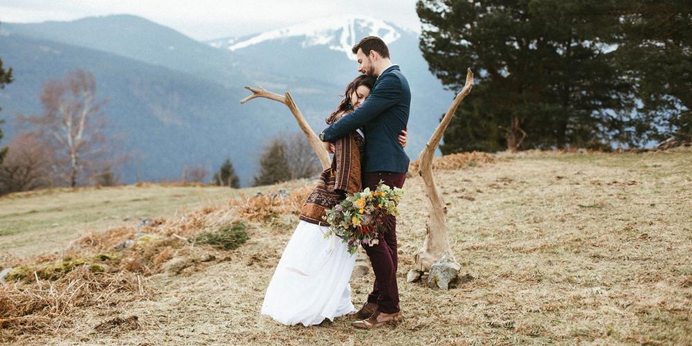 Un mariage bohème en hiver