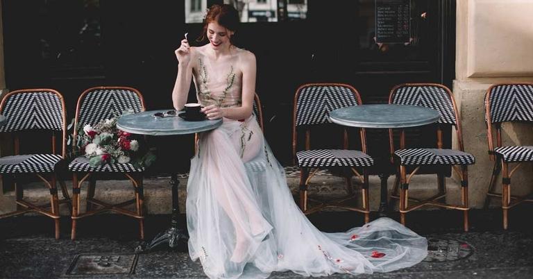 Une mariée dans la ville