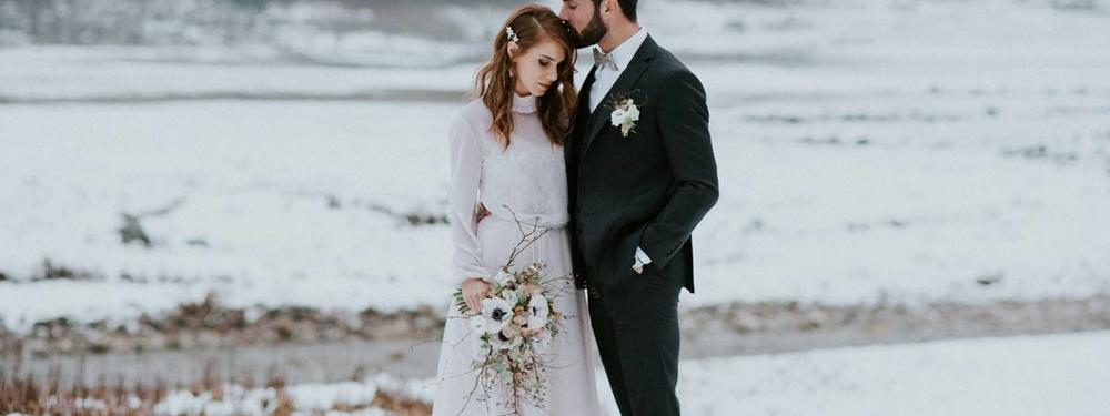 Un mariage minéral en hiver