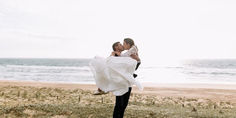Edith & César : mariage sur la plage en Aquitaine