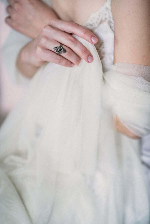 accessoires voile mariée rétro