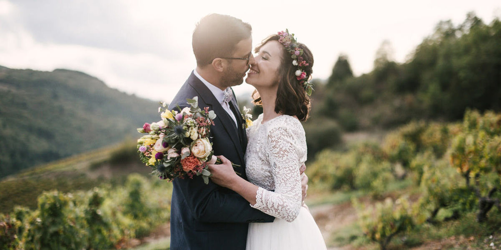 Marie & Romain : un mariage chic et champêtre dans le Rhône Alpes