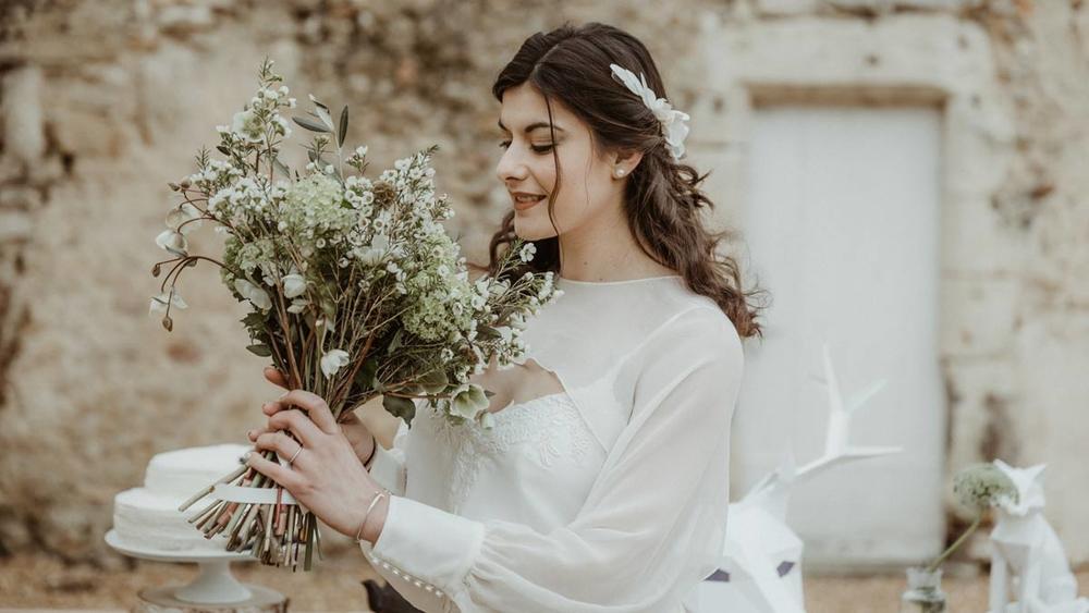 Un mariage comme un conte de fée en hiver en Pays de la Loire
